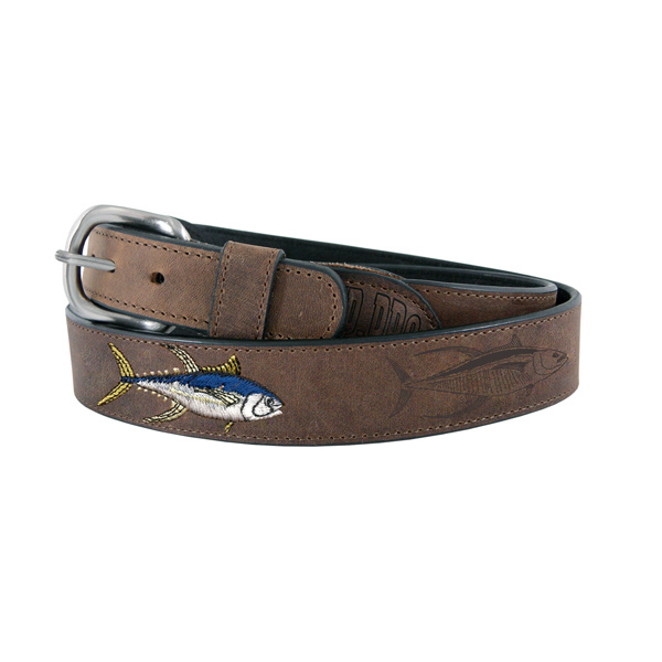 Men's Yellow Fin Tuna Leather Belt