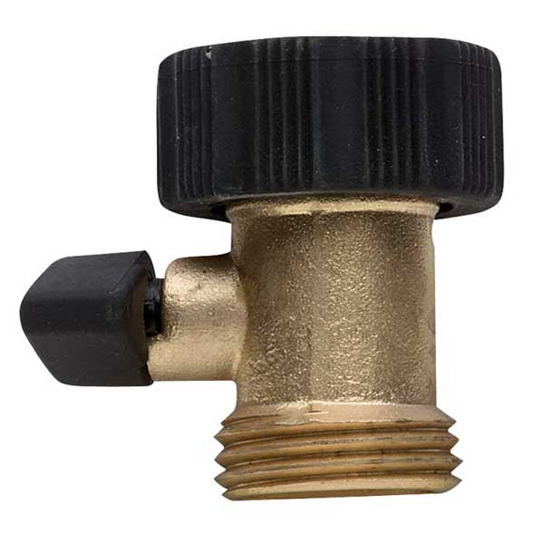 Heavy-Duty Brass Shut-Off Valve, One-Way