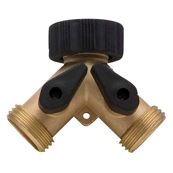 Heavy-Duty Brass Shut-Off Valve, Two-Way