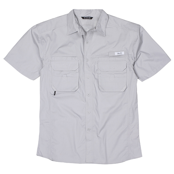 Blacktip men 39 s big catch fishing shirt gray price tracking for West marine fishing shirts