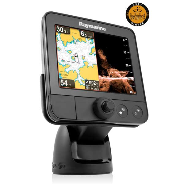 Raymarine Dragonfly 6 Fishfinder  Charplotter Combo Sonar Gps With Built In Downvision And