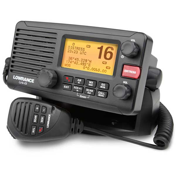 lowrance link 8 fixed vhf radio ais receiver west marine. Black Bedroom Furniture Sets. Home Design Ideas