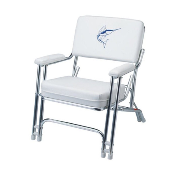 GARELICK Mariner Folding Deck Chair With Sewn Cushions West Marine