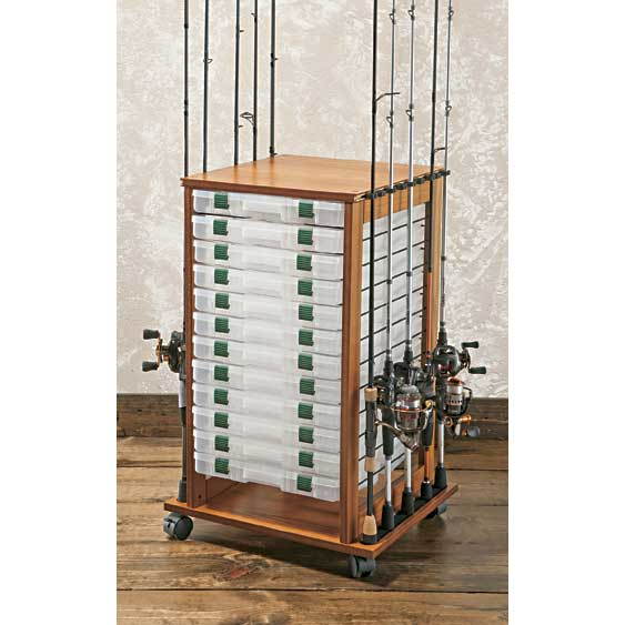 Organized fishing typhoon rolling rod rack 32 hx 20 w x for Fishing rod rack