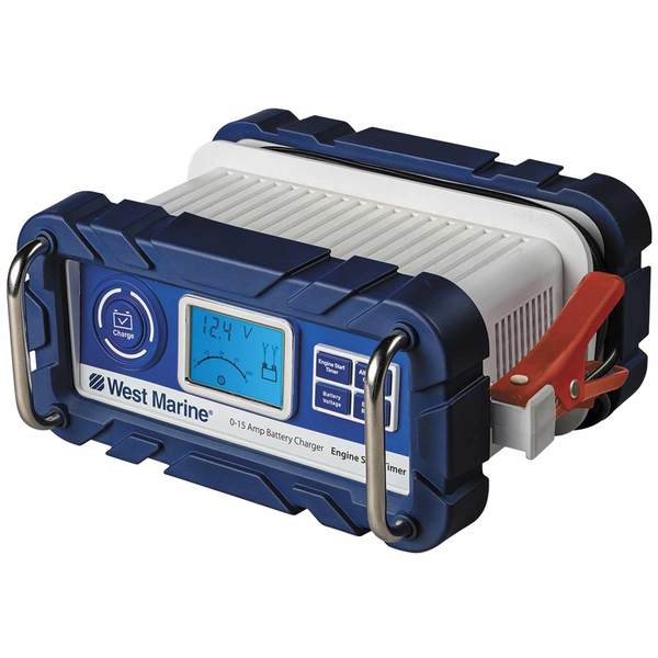 Automatic 15A Battery Charger with Engine Start Timer