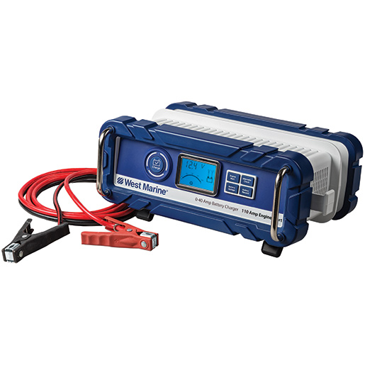 Automatic 40A Portable Battery Charger with Engine Start