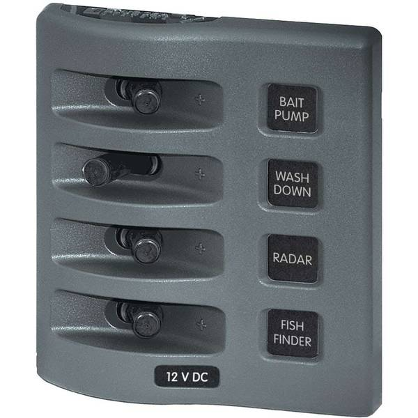 WeatherDeck® Waterproof Switch Panel, Four-Position