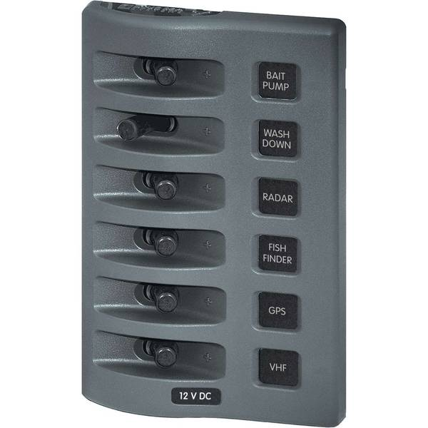 WeatherDeck® Waterproof Switch Panel, Six-Position