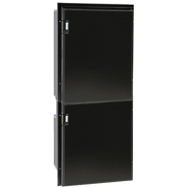 Cruise 195 Classic Fridge/Freezer - AC/DC, Right Swing, Black Door & Panel, 3 Sided Black Flange