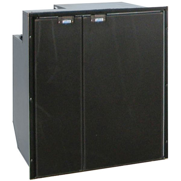 Cruise 200 Classic - Side by Side Fridge/Freezer AC/DC, Black Door & Panel, 4-Sided Black Flange