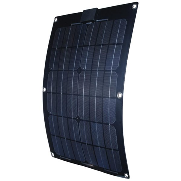Semi-Flexible 25W Monocrystalline Solar Panel