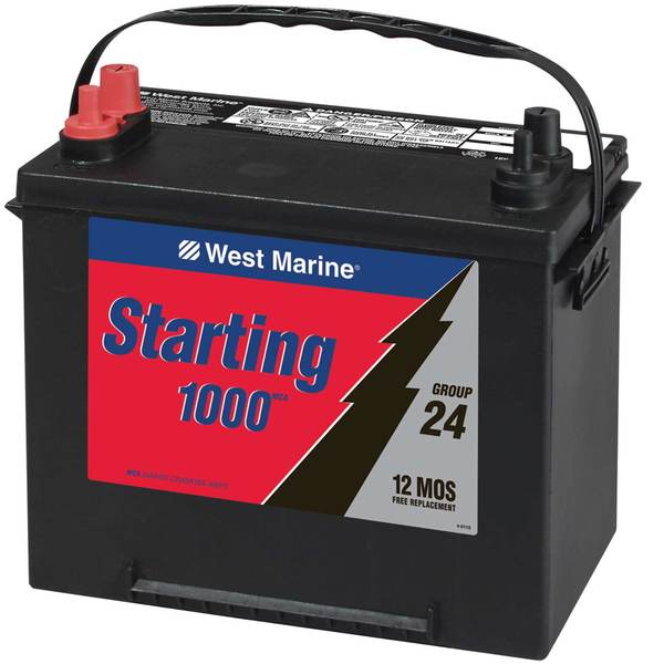 Marine Starting Battery, 1000MCA, Group 24