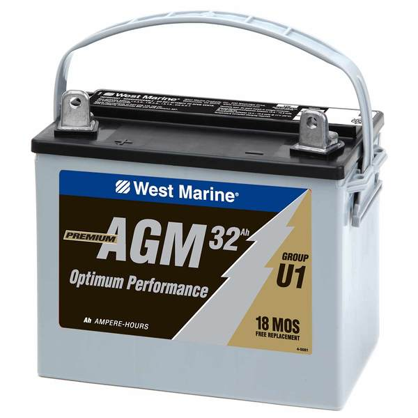 Group U-1 Dual-Purpose AGM Battery 32 Amp Hours