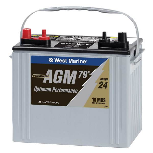 Group 24 Dual-Purpose AGM Battery, 79 Amp Hours