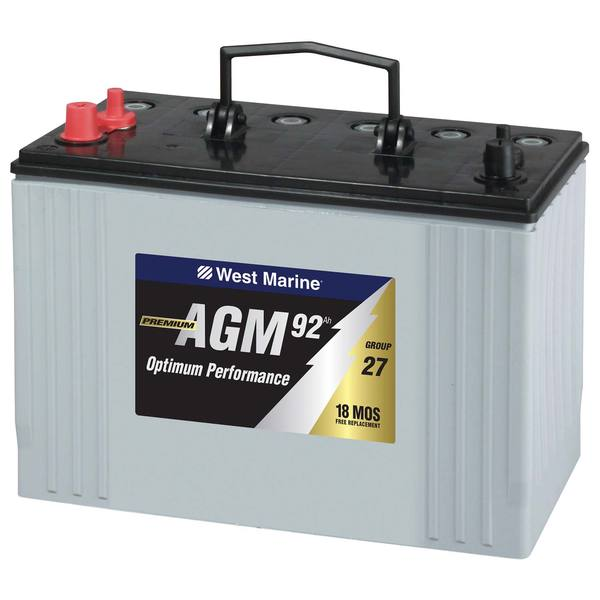 West Marine Group 27 Dual Purpose Agm Battery 92 Amp