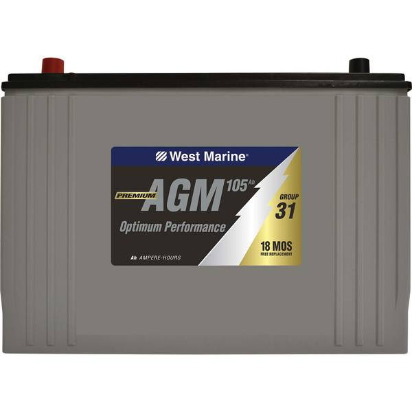 Group 31 Agm Battery >> West Marine Group 31 Dual Purpose Agm Battery 105 Amp Hours West