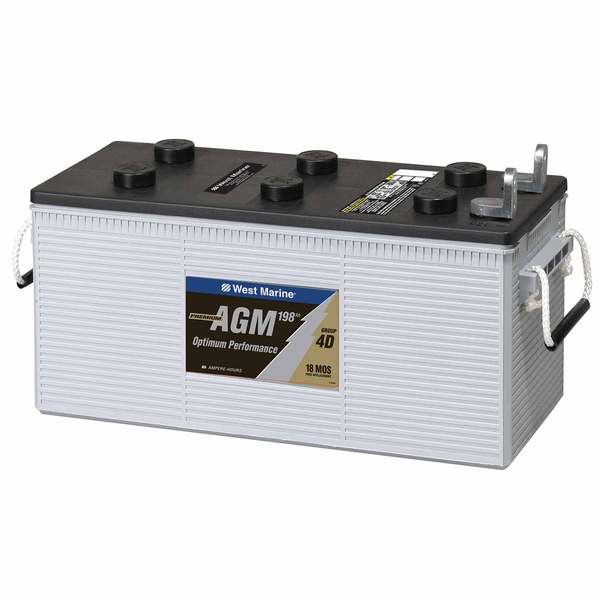 L Terminal Dual-Purpose AGM Battery, 198 Amp Hours, Group 4D