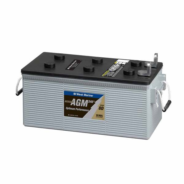 West Marine Dual-Purpose AGM Battery 245 Amp Hours, Group 8D