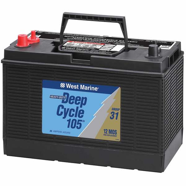 Interstate Deep Cycle Marine Battery >> Deep Cycle Flooded Marine Battery 105 Amp Hours Group 31
