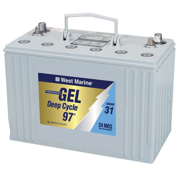 Group 31 Gel Deep Cycle Marine Gel Battery, 97 Amp Hours