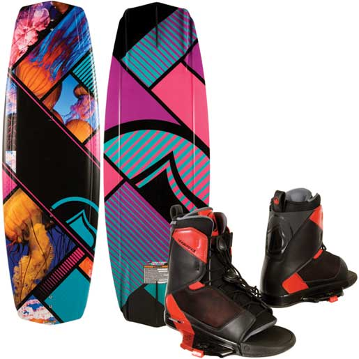 Jett Wakeboard with Transit Bindings, 132cm.