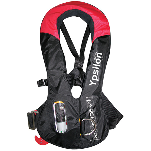 Lalizas usa inc ypsilon inflatable life vest west marine for Inflatable fishing vest
