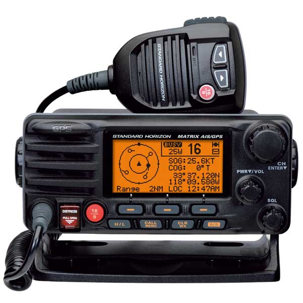 Standard Horizon GX2200 Matrix AIS Fixed-Mount VHF Radio, Black