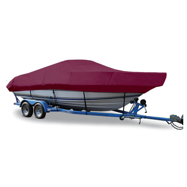"Walk-Around Cuddy Cover, I/O, Burgundy, Hot Shot,  25'5""-26'4"", 102"" Beam"