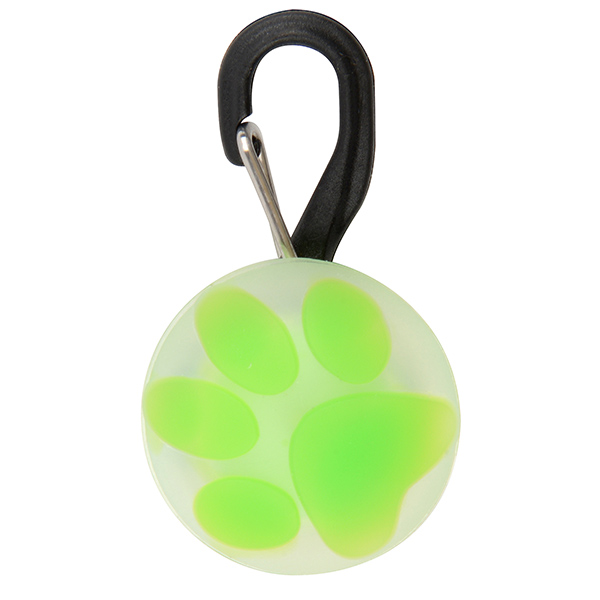 PetLit LED Collar Light, Lime Paw