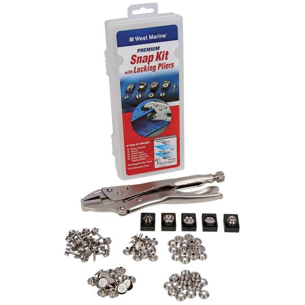 Premium Snap Kit with Locking Pliers, 95-Pack