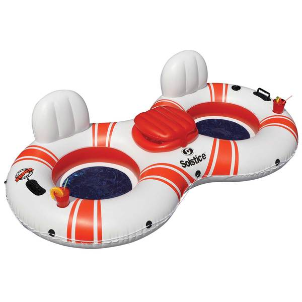 Super Chill 2-Person Inflatable Float with Cooler