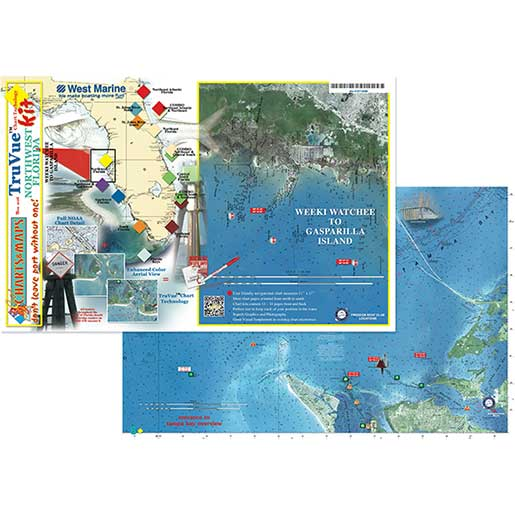 TruVue Chart Kit—Northwest Florida with Satellite Images