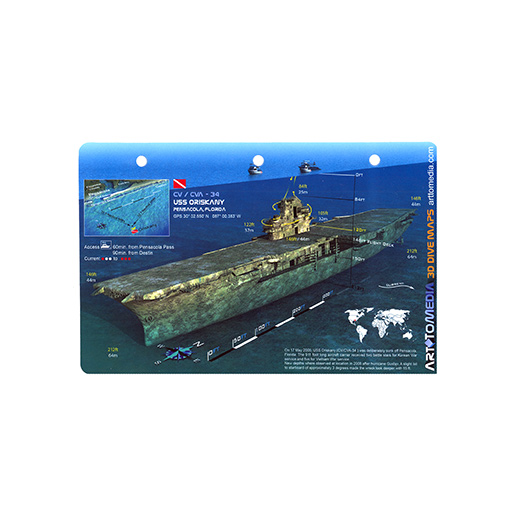 Trident Diving Equipment Oriskany 3D Card 15722572