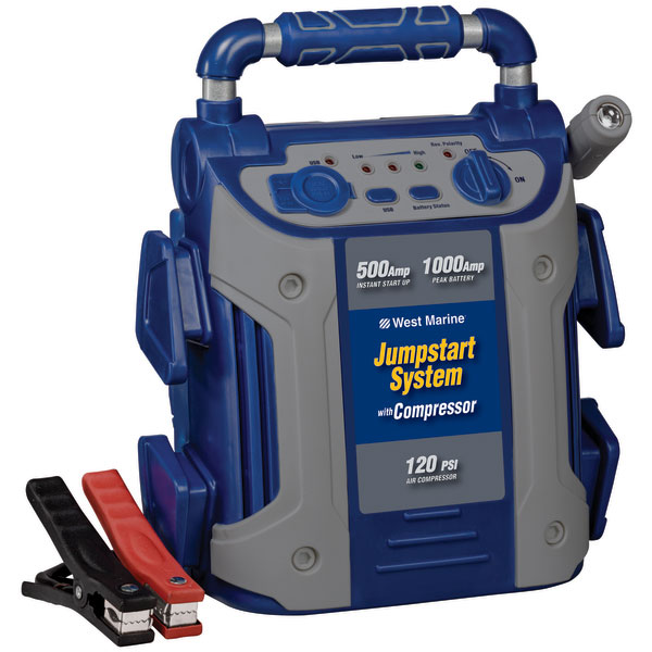 jump start battery west marine 1000 amp jump starter with compressor west 11108