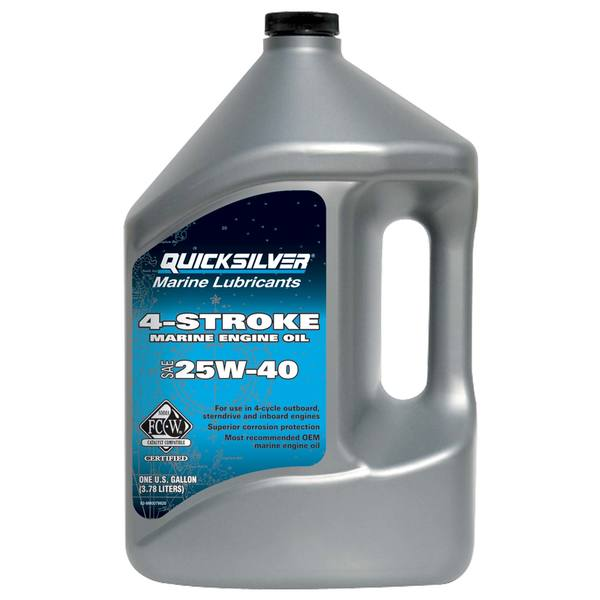 Mercury marine premium sae 25w 40 4 stroke marine engine for Gallon of motor oil