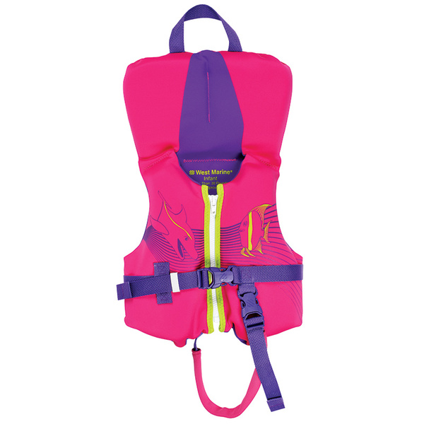 West Marine Deluxe Kids Rapid Dry Life Jacket, Infant Under 30lb, Pink