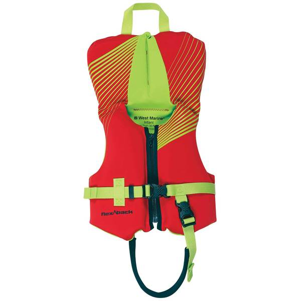 Deluxe Kids' Rapid Dry Life Jacket, Infant Under 30lb., Red