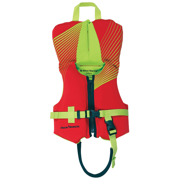 West Marine Deluxe Kids Rapid Dry Life Jacket, Infant Under 30lb, Red