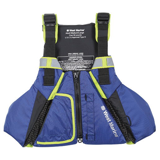 Dynamic Move Paddle Life Jacket - Blue/Green