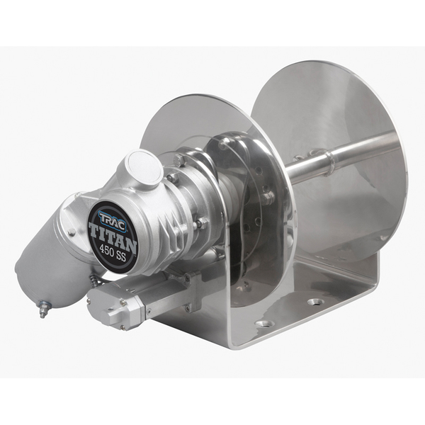 Trac Outdoor Products Titan 450 Stainless Steel Drum Winch