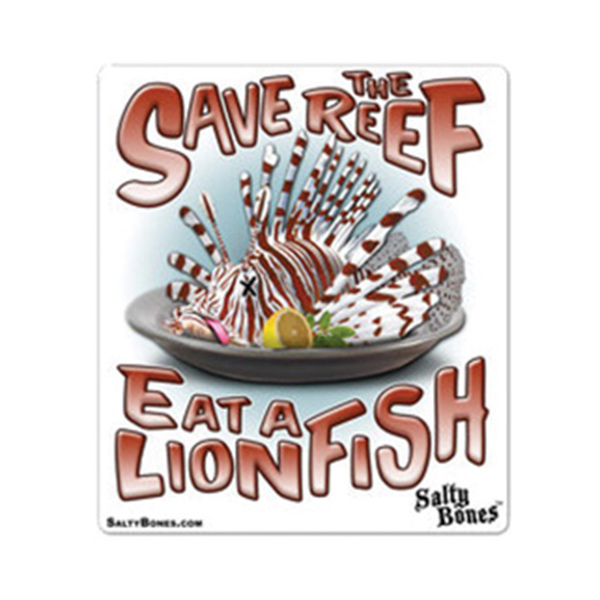 Marine Sports 6 Quot Vinyl Decal Save The Reef Eat A Lionfish