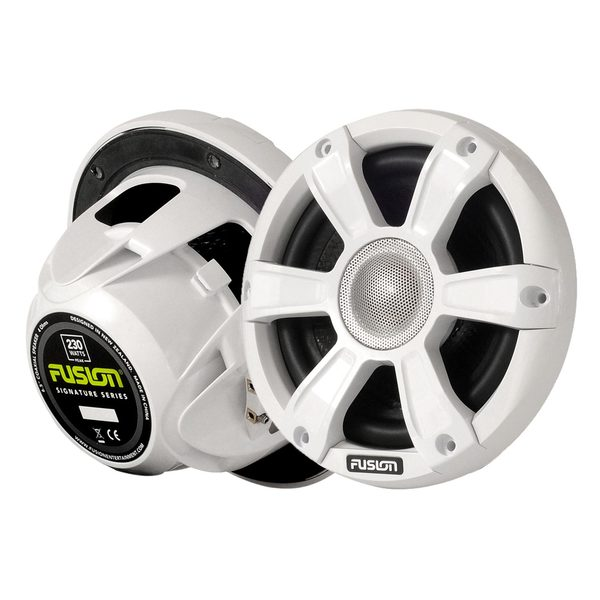 """Image of Fusion SG-FL65SPW 6 1/2"""" Coaxial Sports White Marine Speakers with LED's"""