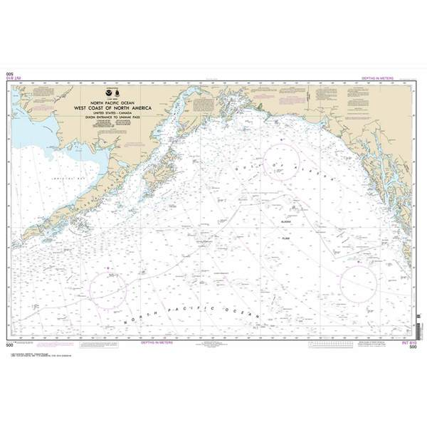 Marine Navigation-Noaa West Coast of North America Dixon Entrance To Unimak Pass, 29 X 42, Waterproof