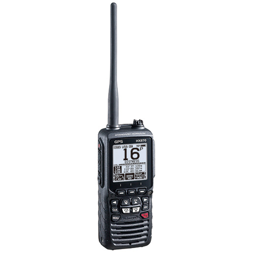 HX870 Floating Handheld VHF Radio with GPS and DSC