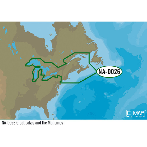 NA-D026 Great Lakes Northeast Coast and Approaches C-MAP 4D Chart microSD/SD Card