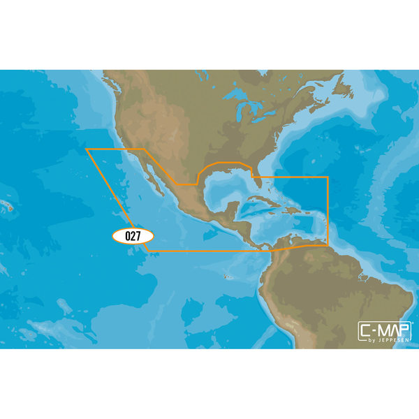 NA-D027 Central America and Caribbean C-MAP 4D Chart microSD/SD Card