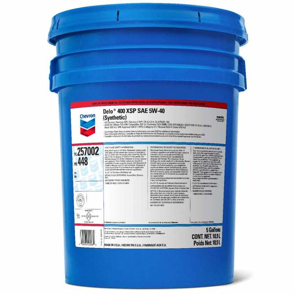 Delo 400 XSP Full Synthetic Motor Oil, SAE 5W-40, 5 Gallon