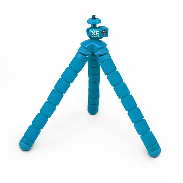 Click here for Xs Commerce Bendy Monochrome Flexible Tripod, Blue prices