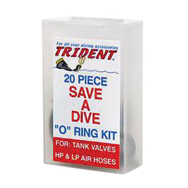 Trident Diving Equipment Standard Rubber O-Ring Kit, 20 Pieces 16516700