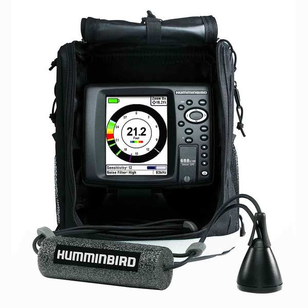 Humminbird ice 688ci hd combo fishfinder gps chartplotter for Ice fish finder